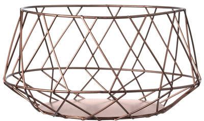 Déco - Corbeilles, centres de table, vide-poches - Corbeille Crystal / En cuivre Ø 23,5 cm - Leonardo - Cuivre - Cuivre