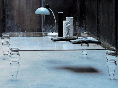 Möbel - Couchtische - Post Modern Couchtisch - Glas Italia - Mit quadratischer Tischplatte: 110 x 110 cm - Glas