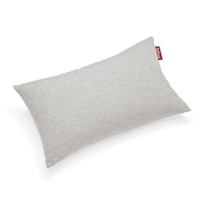 Coussin d'extérieur King OUTDOOR / Tissu Olefin - 66 x 40 cm - Fatboy gris/beige en tissu