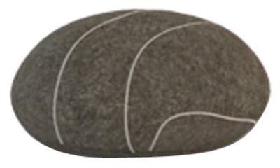 Mobilier - Compléments d'ameublement - Coussin Pierre Livingstones / Laine - 30x27 cm - Smarin - Gris foncé - Fibres poly-siliconées, Laine
