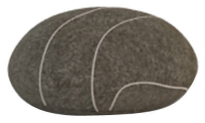 Coussin Pierre Livingstones / Laine - 30x27 cm - Smarin gris en tissu
