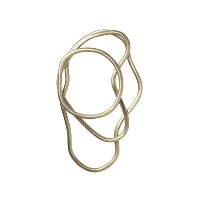 Dessous de plat Pond / Set de 3 anneaux - Laiton - Ferm Living or/métal en métal