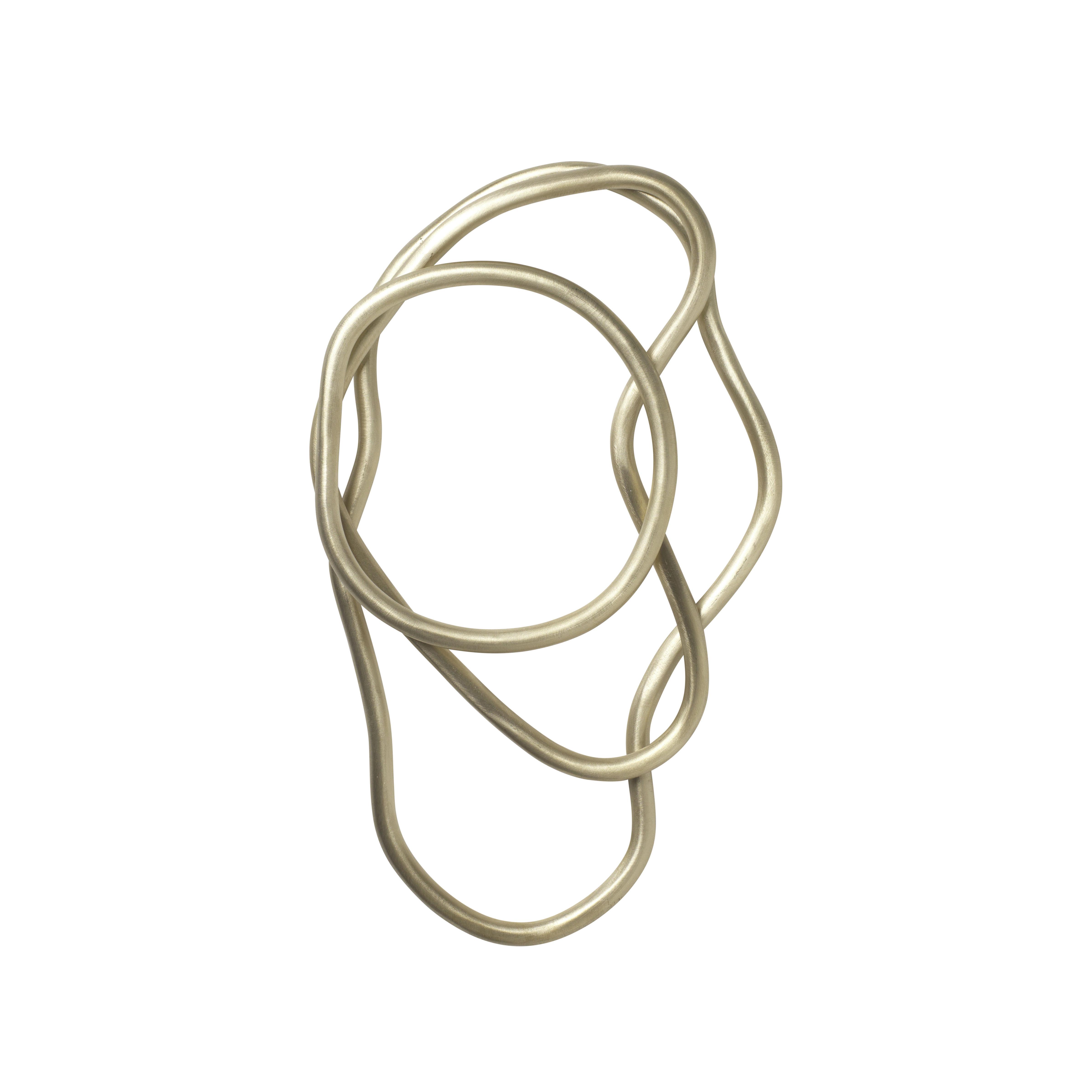 Arts de la table - Dessous de plat - Dessous de plat Pond / Set de 3  anneaux - Laiton - Ferm Living - Laiton - Laiton massif