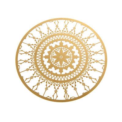 Dessous de verre Italic Lace / Ø 10 cm - Lot de 4 - Driade Kosmo laiton doré en métal