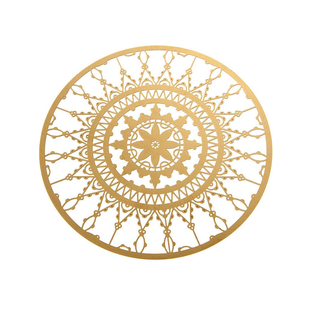 Arts de la table - Accessoires - Dessous de verre Italic Lace / Ø 10 cm - Lot de 4 - Driade Kosmo - Laiton - Laiton
