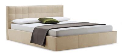 Möbel - Betten - Box Doppelbett / 171 x 218 cm - Zanotta - Stoff - beige-meliert - Gewebe, Stahl