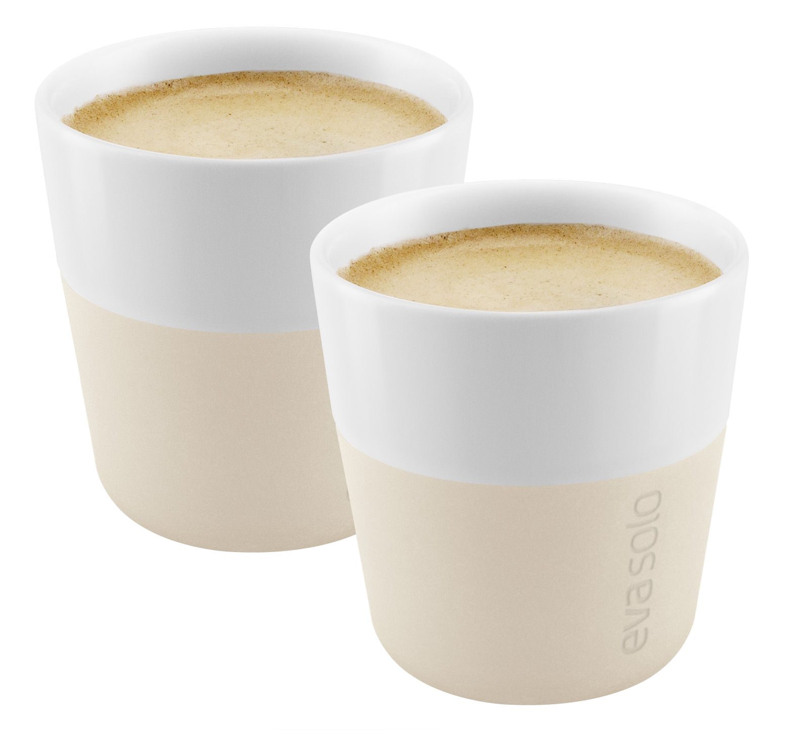 Tableware - Coffee Mugs & Tea Cups - Espresso cup - / Set of 2 - 80 ml by Eva Solo - White - China, Silicone