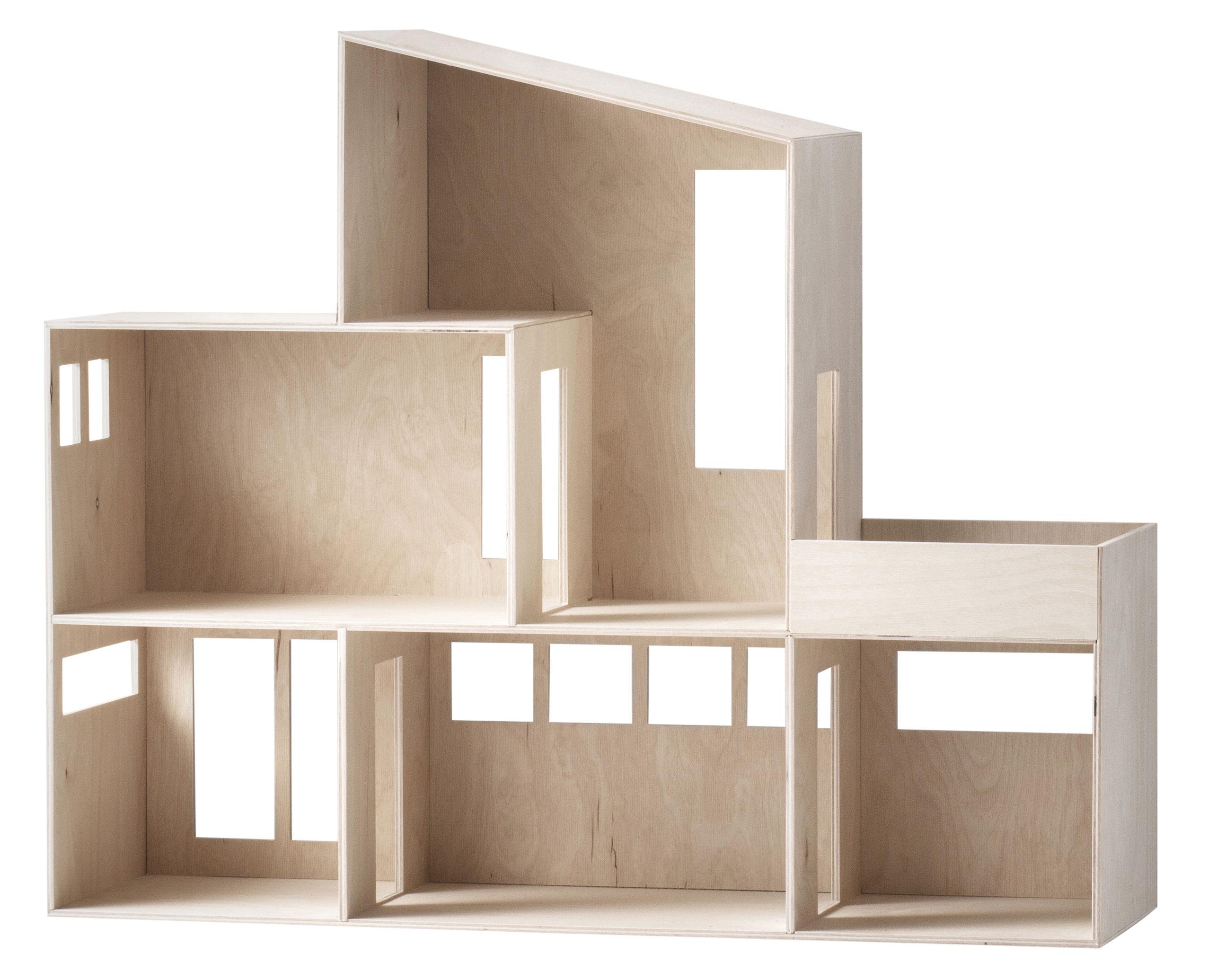 Mobilier - Etagères & bibliothèques - Etagère Funkis Large / Maison de poupées - L 66 x H 55 cm - Ferm Living - Large / Bois - Contreplaqué naturel