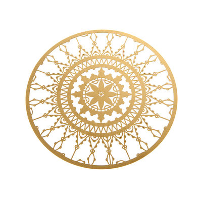 Tableware - Table Mats & Trivets - Italic Lace Glass coaster - Ø 10 cm - Set of 4 by Driade Kosmo - Brass - Brass