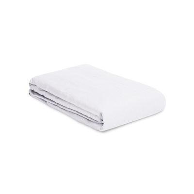 Housse de couette 200 x 200 cm / Lin lavé - Au Printemps Paris blanc en tissu