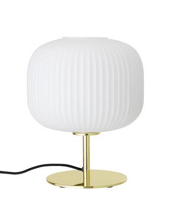 Illuminazione - Lampade da tavolo - Lampada da tavolo - / Metallo di Bloomingville - Bianco & oro - Metallo, Vetro
