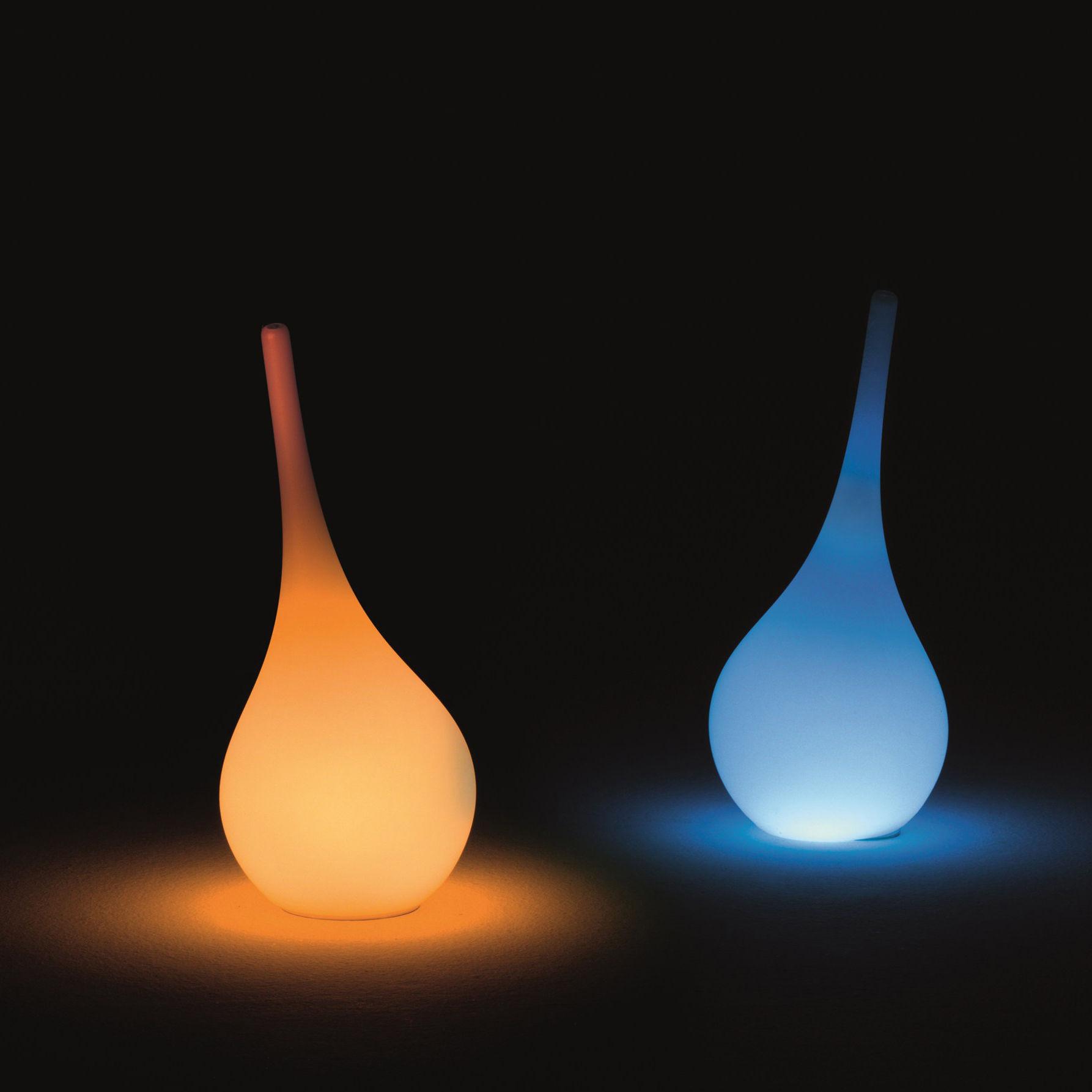 Dekoration - Vasen - Ampoule Leuchtende Vase / H 35 cm - RGB-LED, kabellos - Outdoor-Version - MyYour - Weiß / mehrfarbiges Licht - Poleasy®