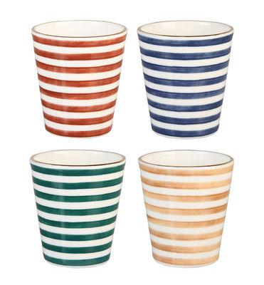 Mug Casablanca / Porcelaine - Set de 4 - & klevering multicolore en céramique
