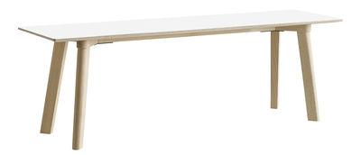 Arredamento - Panchine - Panchina Copenhague CPH Deux 215 - / L 140 cm di Hay - Bianco / Faggio naturale - Faggio massello, Laminato, Stratificato