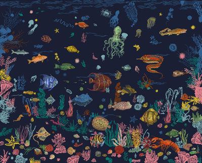 Déco - Stickers, papiers peints & posters - Papier peint panoramique Sous la mer / 8 lés - L 372 x H 300 cm - Domestic - Bleu Navy - Papier intissé