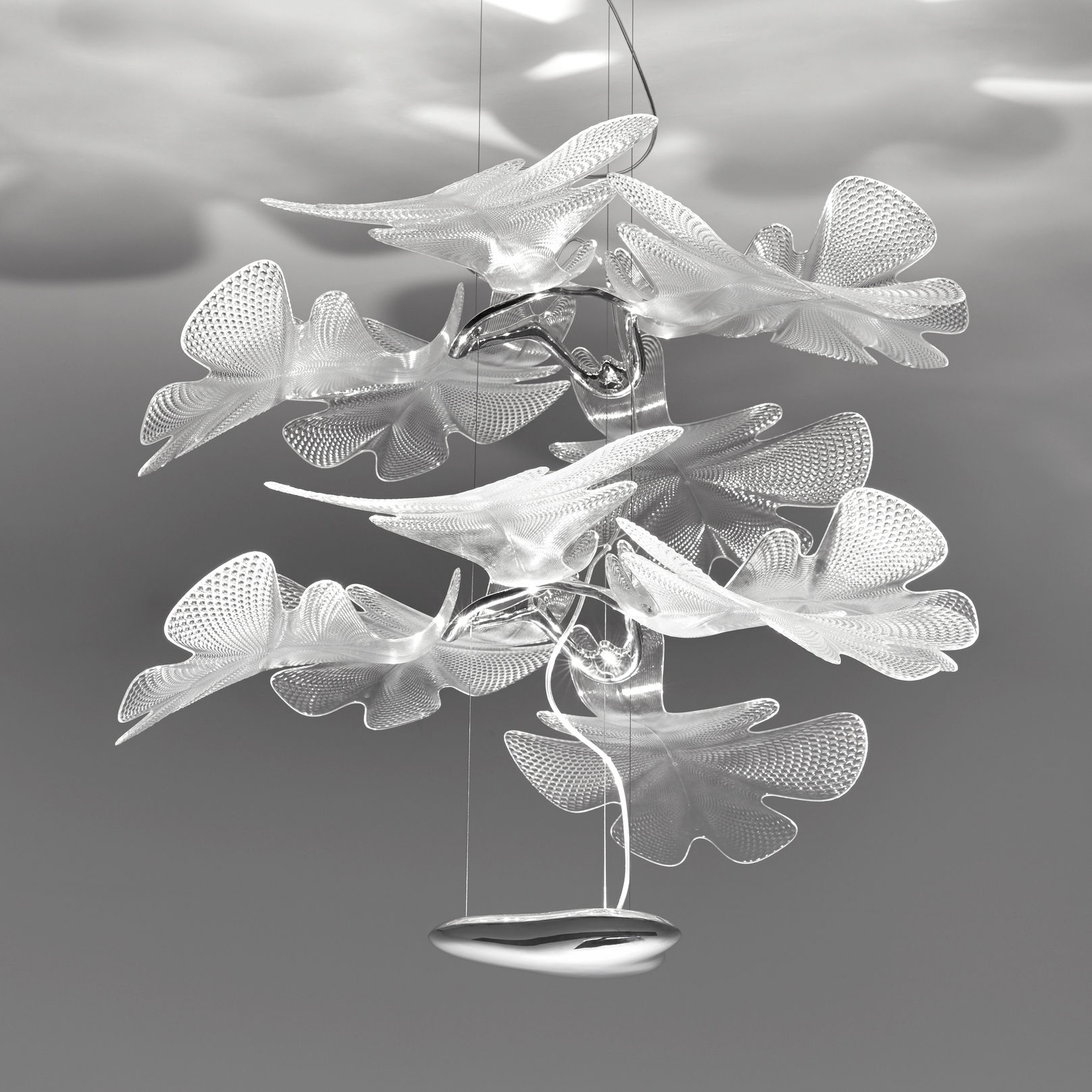 Lighting - Pendant Lighting - Chlorophilia Double Pendant - LED - Ø 78 x H 66 cm by Artemide - Transparent - Aluminium, PMMA