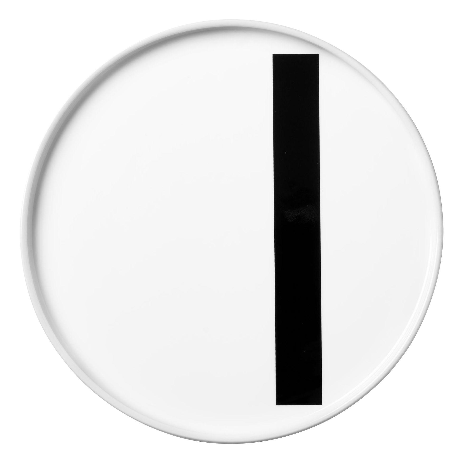 Tavola - Piatti  - Piatto A-Z / Porcellana - Lettera I - Ø 20 cm - Design Letters - Bianco / Lettera I - Porcellana cinese