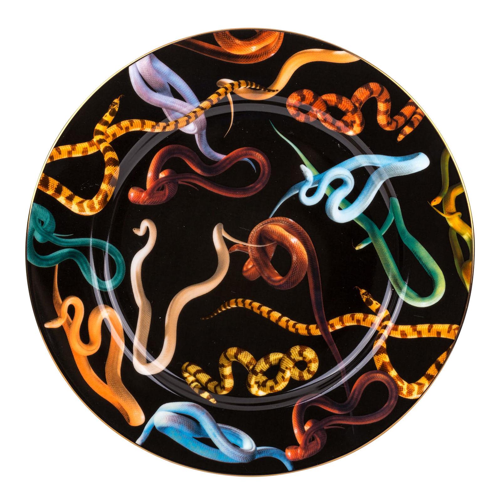 Tavola - Piatti  - Piatto Toiletpaper - Snakes - / Porcellana di Seletti - Snakes - Porcellana