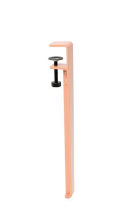 Arredamento - Tavolini  - Gamba con fissaggio a morsetto / H 43 cm - Per tavolino basso & panca - TipToe - Verde ulivo - Acciaio termolaccato
