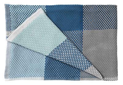 Plaid Loom / 130 x 180 cm - Muuto bleu,bleu pâle en tissu