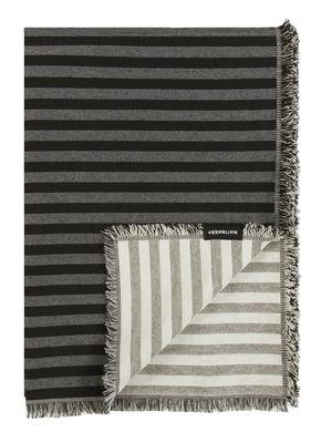 Plaid Tasaraita / 130 x 180 cm - Marimekko gris,noir,ecru en tissu