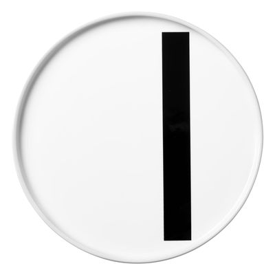 Tableware - Plates - A-Z Plate - Porcelain - I by Design Letters - White / I - China