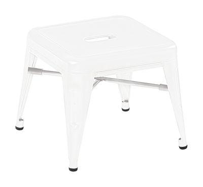 Pouf H Mini / Marchepied - H 30 cm - Acier - Tolix blanc en métal