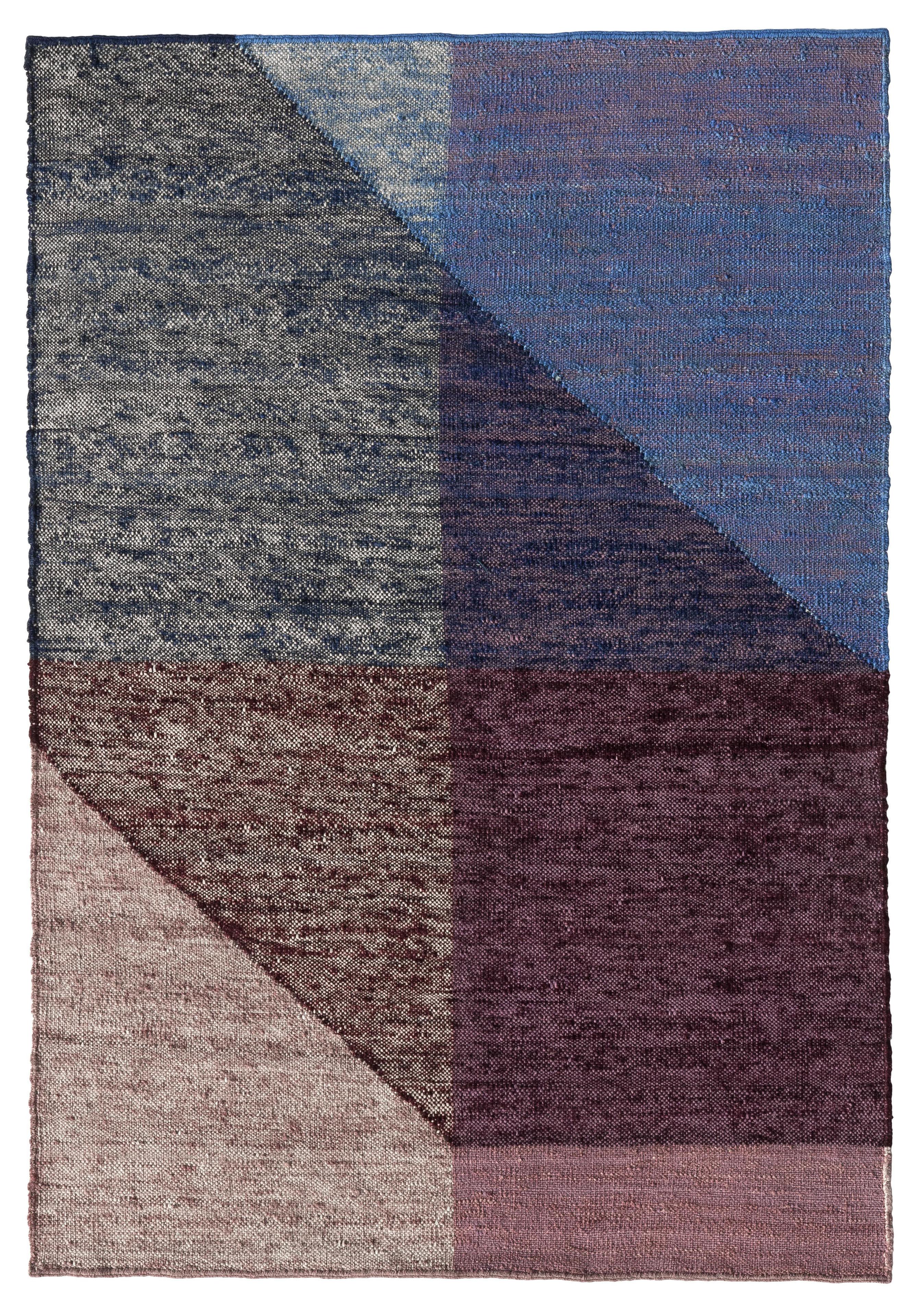 Decoration - Rugs - Capas 3 Rug - / 200 x 300 cm by Nanimarquina - Purple & blue - Wool