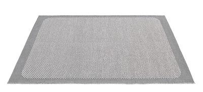 Decoration - Rugs - Pebble Rug - / Tissé main - 200 x 300 cm by Muuto - Light grey - Jute fiber, Wool
