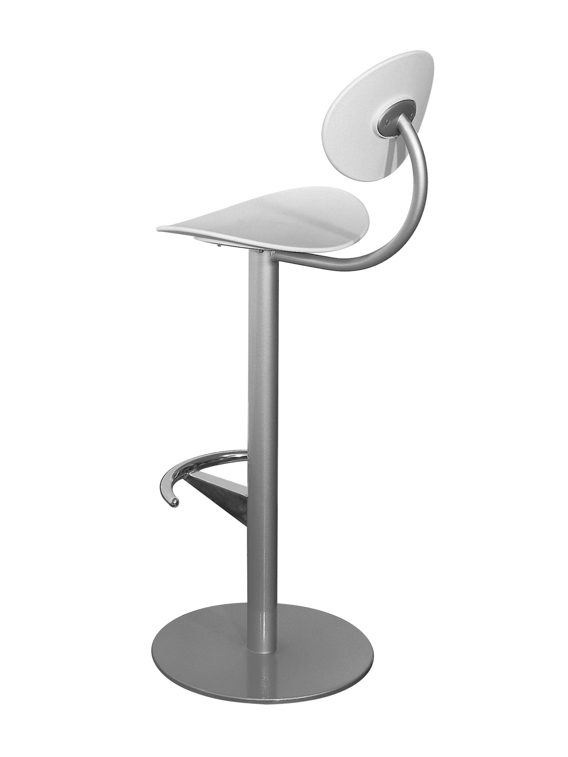 Arredamento - Sgabelli da bar  - Sedia da bar Coma - h 79 cm - Con schienale di Enea - Grigio antracite - Grigio alluminio - Acciaio laccato, Polipropilene