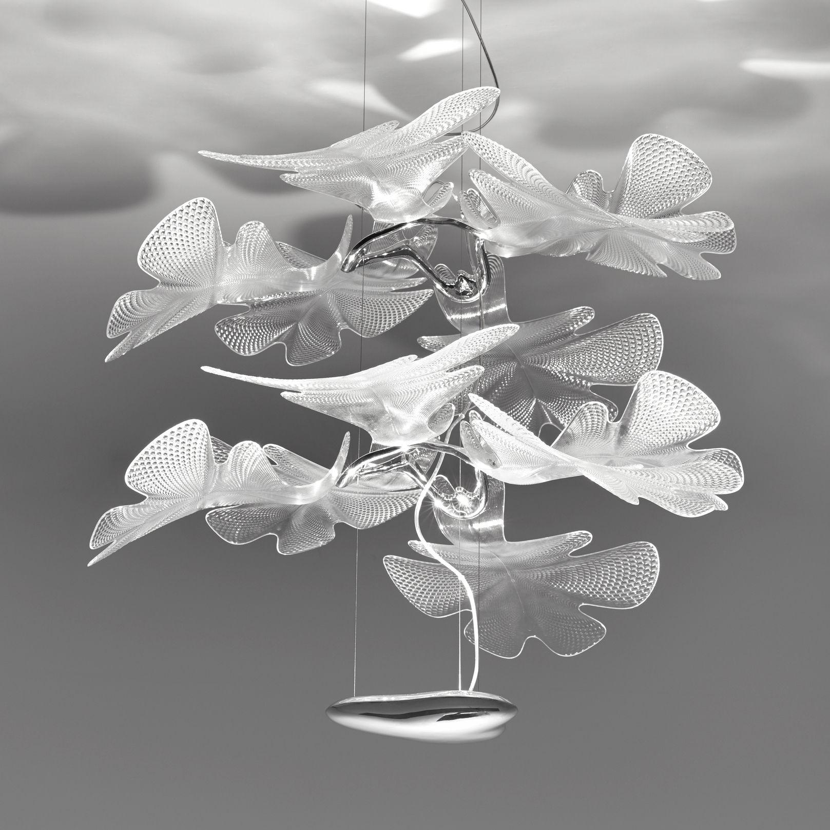 Illuminazione - Lampadari - Sospensione Chlorophilia Double / LED - Ø 78 x H 66 cm - Artemide - Trasparente - Alluminio, PMMA