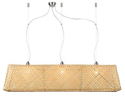 Image of Sospensione Komodo - / Bambù - L 130 cm di GOOD&MOJO - Beige/Legno naturale - Fibre