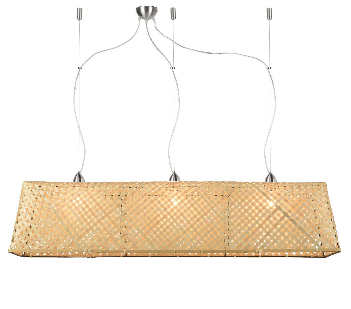 Illuminazione - Lampadari - Sospensione Komodo - / Bambù - L 130 cm di GOOD&MOJO - Naturale - Bambù
