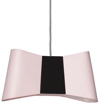 Suspension Grand Couture / L 50 cm - Designheure noir,rose pâle en tissu