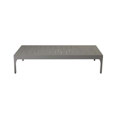 Table basse Infinity / 120 x 90 cm - Aluminium - Ethimo gris en métal