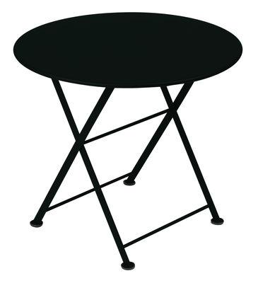 Mobilier - Tables basses - Table basse Tom Pouce / Ø 55 cm - Fermob - Réglisse - Acier laqué