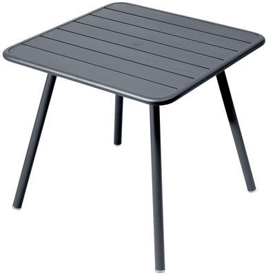 Table Luxembourg / 80 x 80 cm - 4 pieds - Fermob carbone en métal