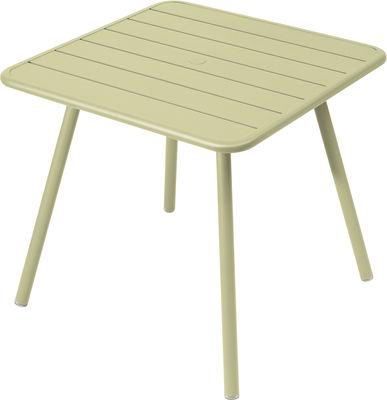 Table Luxembourg / 80 x 80 cm - 4 pieds - Fermob tilleul en métal