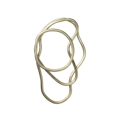 Tableware - Table Mats & Trivets - Pond Tablemat - / Set of 3 rings - Brass by Ferm Living - Brass - Solid brass