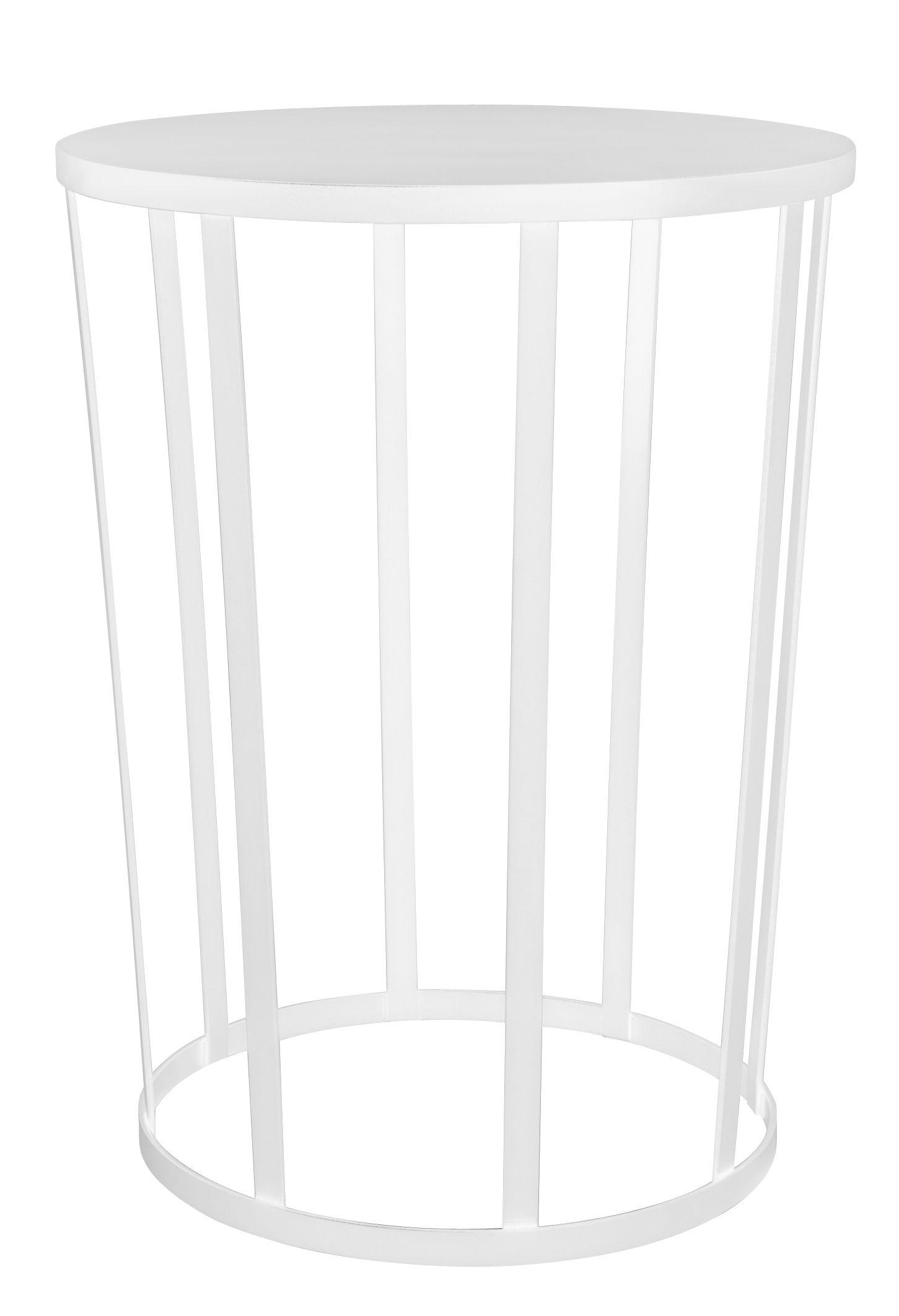 Arredamento - Tavolini  - Tavolino Hollo / Sgabello - Ø 35 x H 44 cm - Petite Friture - Bianco - Acciaio laccato