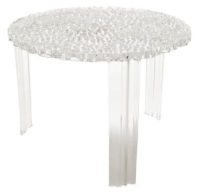 Arredamento - Tavolini  - Tavolino T-Table Medio di Kartell - Trasparente - PMMA