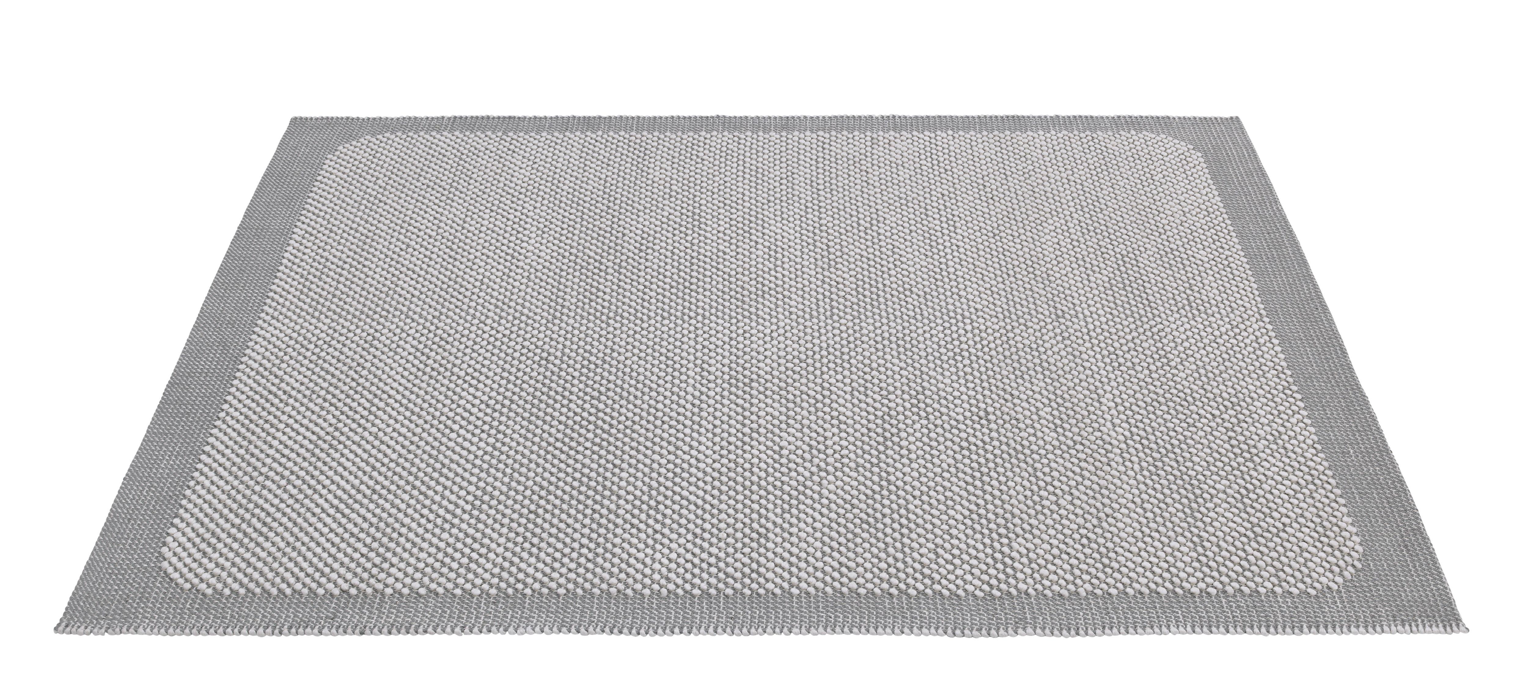 Dekoration - Teppiche - Pebble Teppich / handgewebt - 200 x 300 cm - Muuto - Hellgrau - Fibres de jute, Wolle