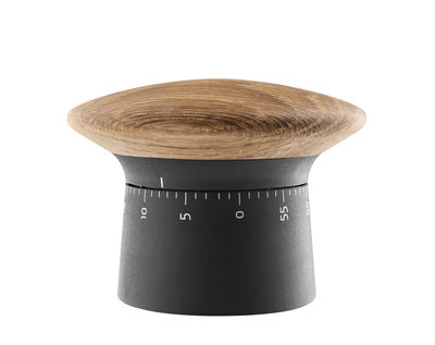 Kitchenware - Kitchen Equipment - Timer - / Plastic & oak by Eva Solo - Black / Oak - Plastic, Rubber, Solid oak
