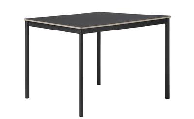 Möbel - Tische - Base Tisch / Tischplatte aus Holz - 140 x 80 cm - Muuto - Schwarz - extrudiertes Aluminium, Furnier, Press-Spanplatte