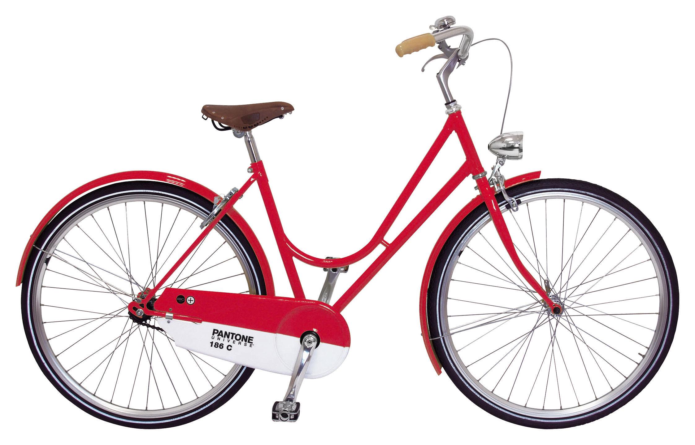 Accessoires - Pratique et malin - Vélo Pantone - Abici - 186C - Rouge rubis - Acier, Aluminium, Cuir