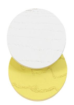Möbel - Garderoben und Kleiderhaken - Lou Wandhaken / Ø 7 cm - Hartô - Hellgrau / gelb - massive Buche