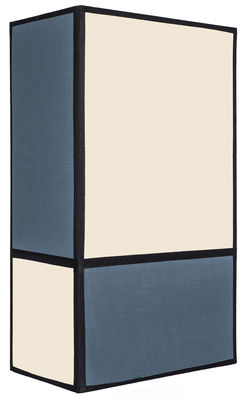 Leuchten - Wandleuchten - Radieuse Large Wandleuchte / ohne Fassung und Stromanschluss - H 36 cm - Maison Sarah Lavoine - Natur & blau / Einfassungen schwarz - Baumwolle, Metall