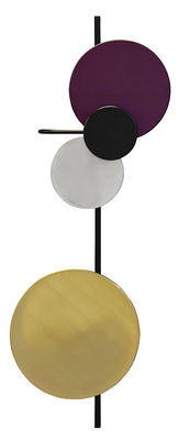 Applique avec prise Planet Lamp / Modulable - H 98 cm - Branchement secteur - PLEASE WAIT to be SEATED noir,aluminium,violet,laiton en métal