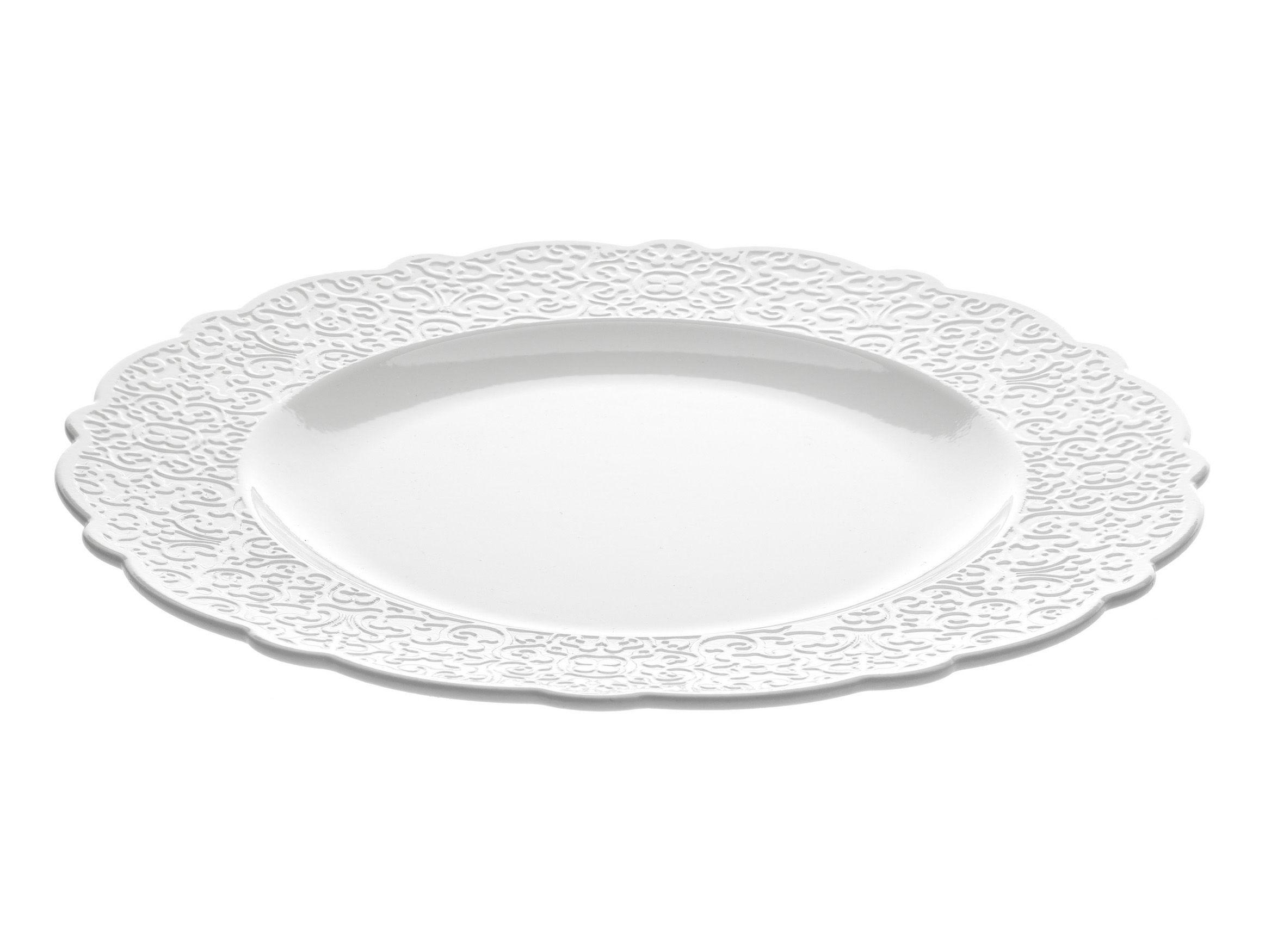 Arts de la table - Assiettes - Assiette Dressed Ø 27 cm - Alessi - Assiette Ø 27 cm - Blanc - Porcelaine