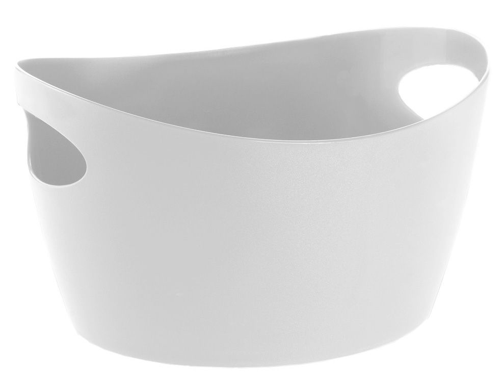 Decoration - For bathroom - Bottichelli S Basket - L 23 x H 13 cm by Koziol - White - PMMA